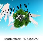 christmas and new year 2017... | Shutterstock .eps vector #476556997