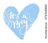 vector greeting card  baby... | Shutterstock .eps vector #476568883