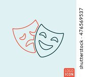 comedy and tragedy mask icon....