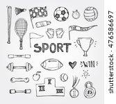 hand drawn vector illustrations.... | Shutterstock .eps vector #476586697