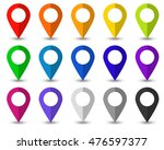 set of 15 map pointer icons... | Shutterstock .eps vector #476597377