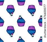 seamless cupcake. pattern...   Shutterstock .eps vector #476600077