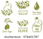 vector set of olive oil  labels | Shutterstock .eps vector #476601787