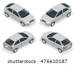 isometric car. flat 3d... | Shutterstock . vector #476610187