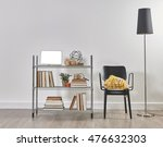 modern bookcase and accessories ...   Shutterstock . vector #476632303