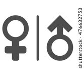 wc gender symbols icon. vector... | Shutterstock .eps vector #476632753