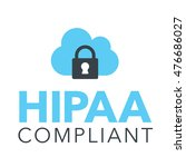 hipaa compliance icon graphic... | Shutterstock .eps vector #476686027