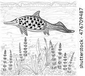ichthyosaur   prehistoric... | Shutterstock .eps vector #476709487