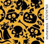 black and orange halloween... | Shutterstock .eps vector #476709763