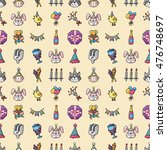 birthday and celebrate icons... | Shutterstock .eps vector #476748697