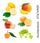 different fruit collection | Shutterstock . vector #47674909