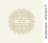 vector logo and monogram design ... | Shutterstock .eps vector #476764177