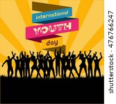international youth day poster... | Shutterstock .eps vector #476766247