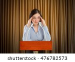 stressed business woman on the...   Shutterstock . vector #476782573