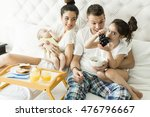 mother  father  baby and little ... | Shutterstock . vector #476796667