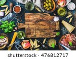 italian food cooking... | Shutterstock . vector #476812717