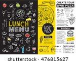 menu placemat food restaurant... | Shutterstock .eps vector #476815627