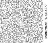 cartoon cute hand drawn design... | Shutterstock .eps vector #476816677