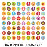 Big Set Of Food Icons. Fruits ...