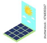 isometric horizontal solar... | Shutterstock .eps vector #476830267