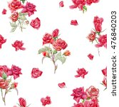 seamless floral pattern with... | Shutterstock . vector #476840203