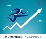 running towards the goal.... | Shutterstock .eps vector #476844937