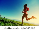 fitness young woman trail... | Shutterstock . vector #476846167
