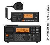 police car radio transceiver... | Shutterstock .eps vector #476861623