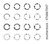 Set Of Grey Circle Vector...