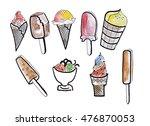 illustration sketch different... | Shutterstock . vector #476870053