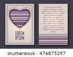 vintage romantic invitation 3d... | Shutterstock .eps vector #476875297