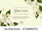 vector jasmine flowers... | Shutterstock .eps vector #476888293