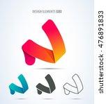 abstract vector letter n logo... | Shutterstock .eps vector #476891833