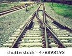 Two Railways Tracks Merge Clos...