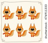 vector set cute squirrel in... | Shutterstock .eps vector #476911333
