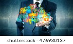 man offering a cloud... | Shutterstock . vector #476930137