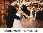 bride shakes her dark hair... | Shutterstock . vector #476933737