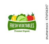 simple modern vegetable logo | Shutterstock .eps vector #476936347