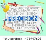 precision words showing... | Shutterstock . vector #476947603