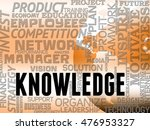 knowledge words showing know... | Shutterstock . vector #476953327