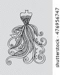 hand drawn elegant woman dress. | Shutterstock .eps vector #476956747