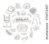 october fest doodle set.... | Shutterstock .eps vector #476972407