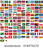 a flags of country world | Shutterstock .eps vector #476974273