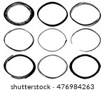 irregular sketched oval shapes  | Shutterstock .eps vector #476984263