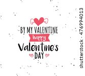 happy valentines day | Shutterstock .eps vector #476994013