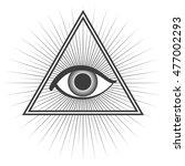 freemason symbol isolated on... | Shutterstock .eps vector #477002293