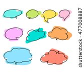set of colorful speech bubbles... | Shutterstock .eps vector #477008887