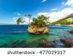 croatian beach at a beautiful... | Shutterstock . vector #477029317