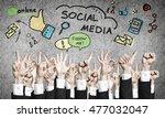 set of hand gestures | Shutterstock . vector #477032047