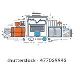 flat background. market trade. ... | Shutterstock . vector #477039943